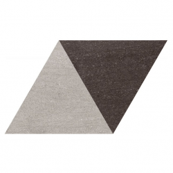 Carrelage losange bicolore géant gris noir 70x40 DIAMOND CITY TRI-GB - 0.98m²
