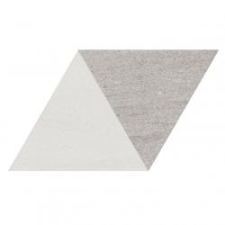 Carrelage losange bicolore géant blanc gris 70x40 DIAMOND CITY TRI WG - 0.98m²