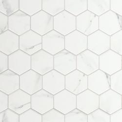 Carrelage tomette marbré 26.5x51 cm HEX CALACATTA- 0.95m²