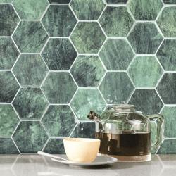 Carrelage tomette vert brillant 26.5x51 cm HEX ZELLIGE - 0.95m²