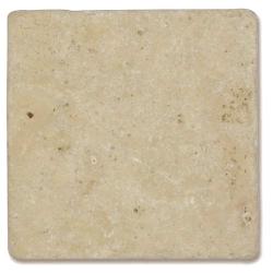 Carrelage pierre TRAVERTIN vieilli beige LIGHT MIX 10x10cm - 0.5m²