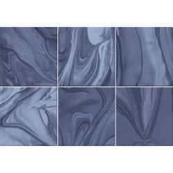 Faïence effet terre mêlée bleu marine 23x33.5 cm MANKAI INDIGO - 1m²