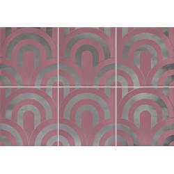 Faïence écaille rose/argent 23x33.5 TAKADA MARSALA PLATA - 1 unité