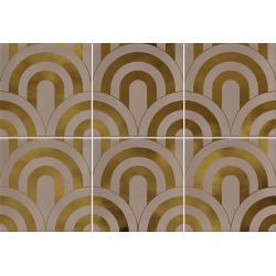 Faïence écaille beige/or 23x33.5 TAKADA NUEZ ORO - 1 unité